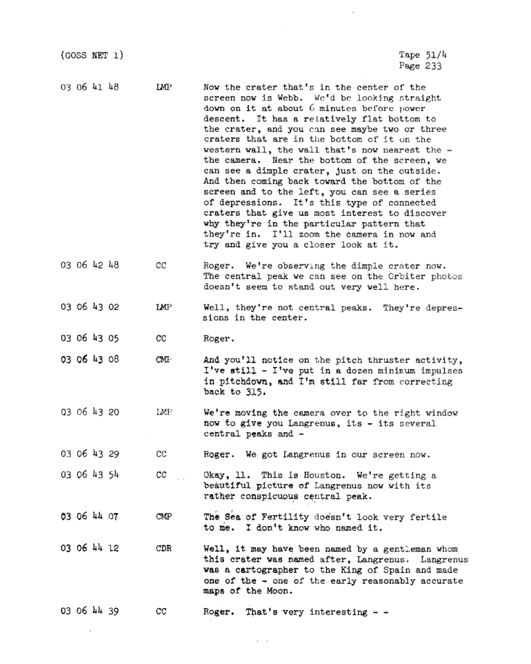 Page 235 of Apollo 11's original transcript