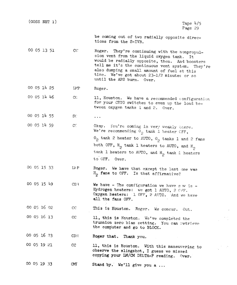 Page 31 of Apollo 11's original transcript