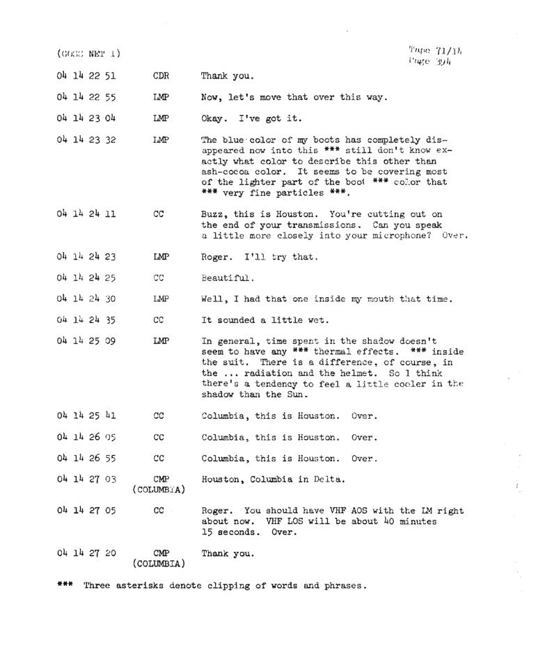 Page 396 of Apollo 11's original transcript