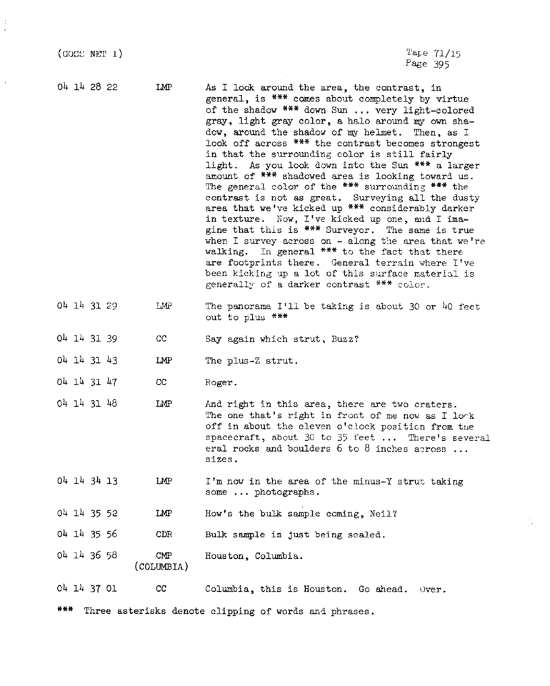 Page 397 of Apollo 11's original transcript