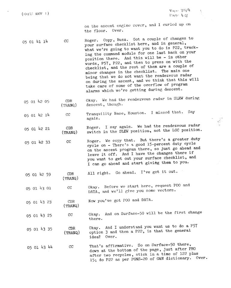 Page 439 of Apollo 11's original transcript