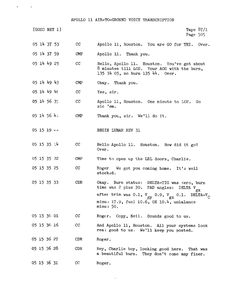 Page 507 of Apollo 11's original transcript