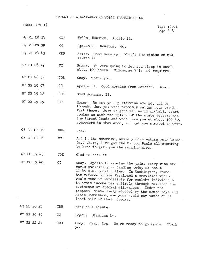 Page 610 of Apollo 11's original transcript