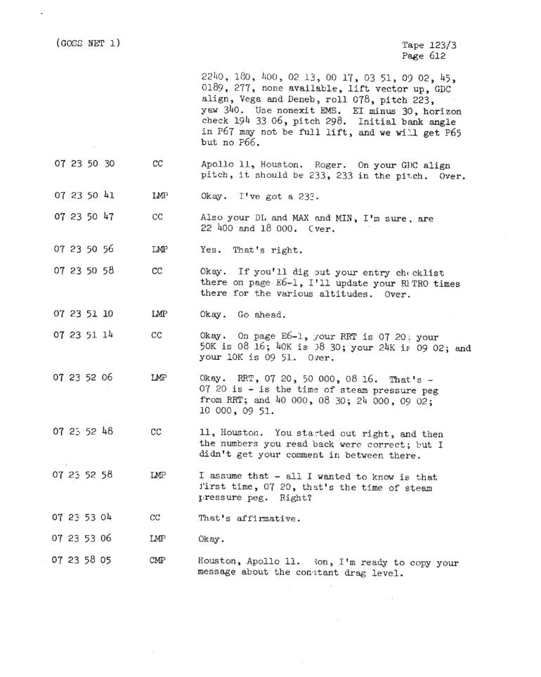 Page 614 of Apollo 11's original transcript