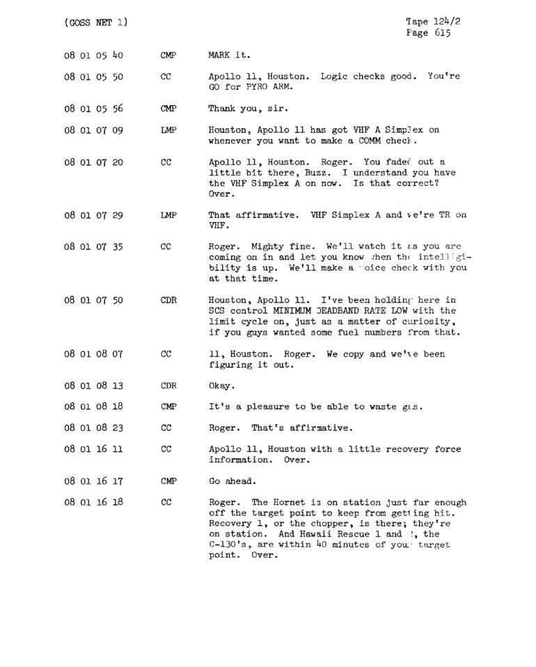 Page 617 of Apollo 11's original transcript