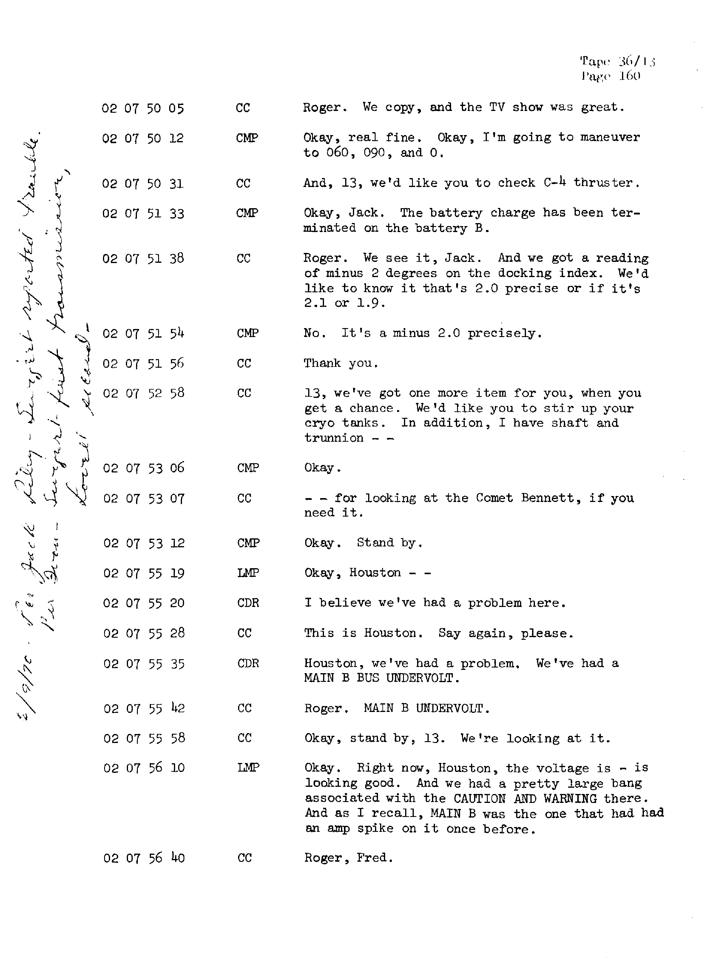 Page 167 of Apollo 13's original transcript