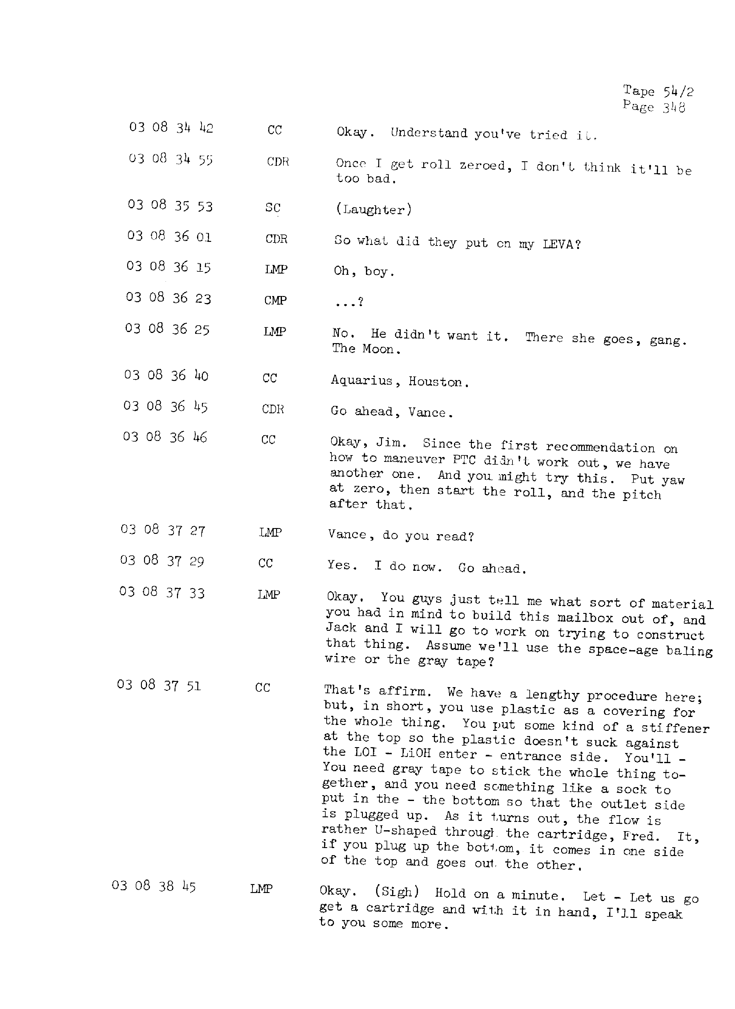 Page 355 of Apollo 13's original transcript