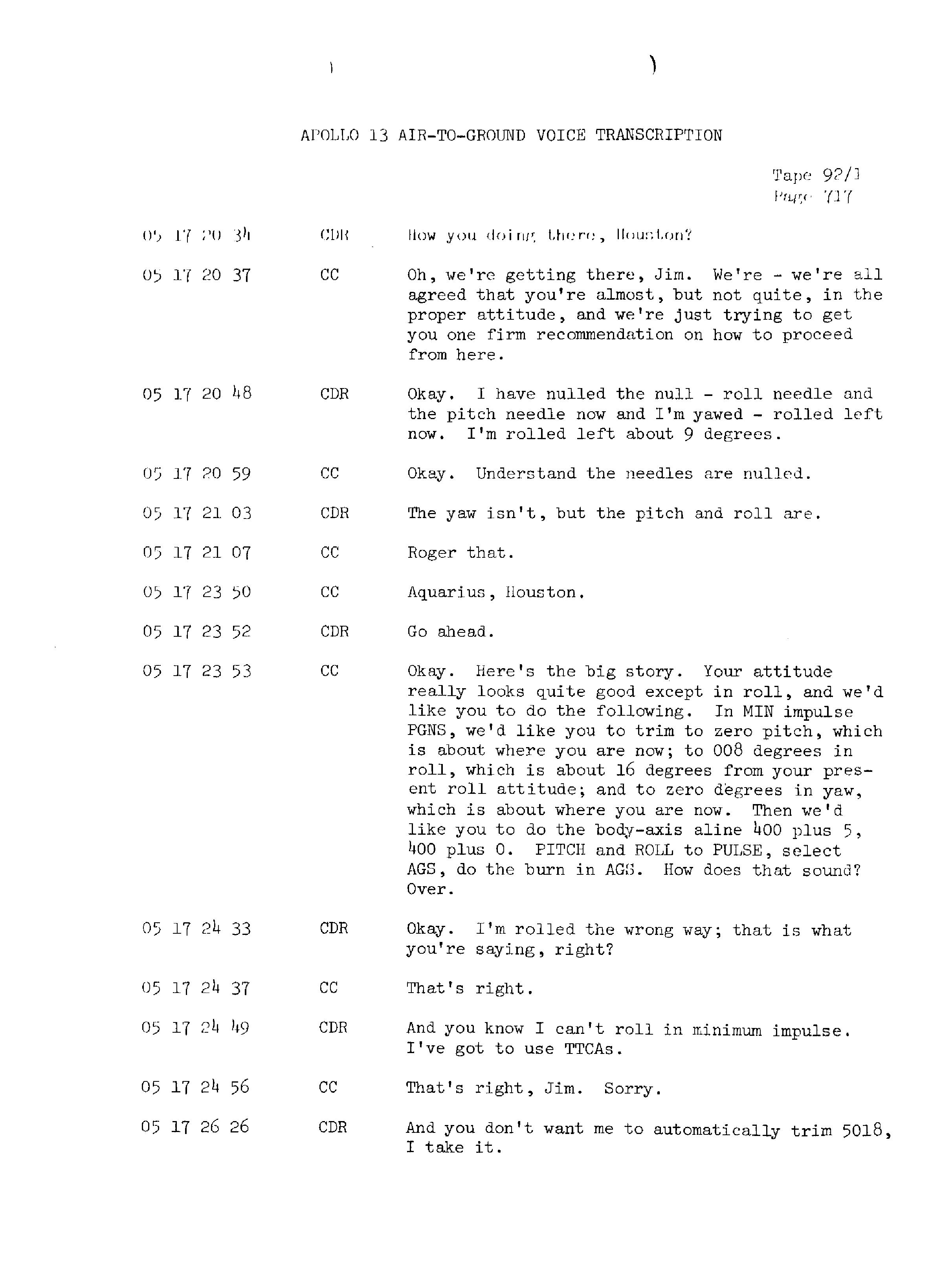 Page 724 of Apollo 13's original transcript