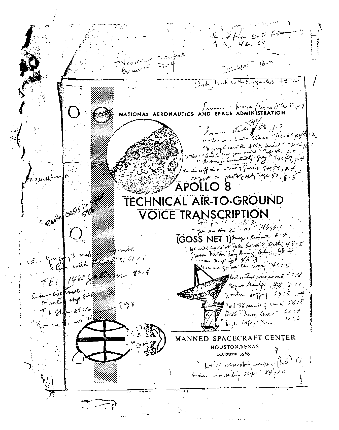 Page 1 of Apollo 8's original transcript