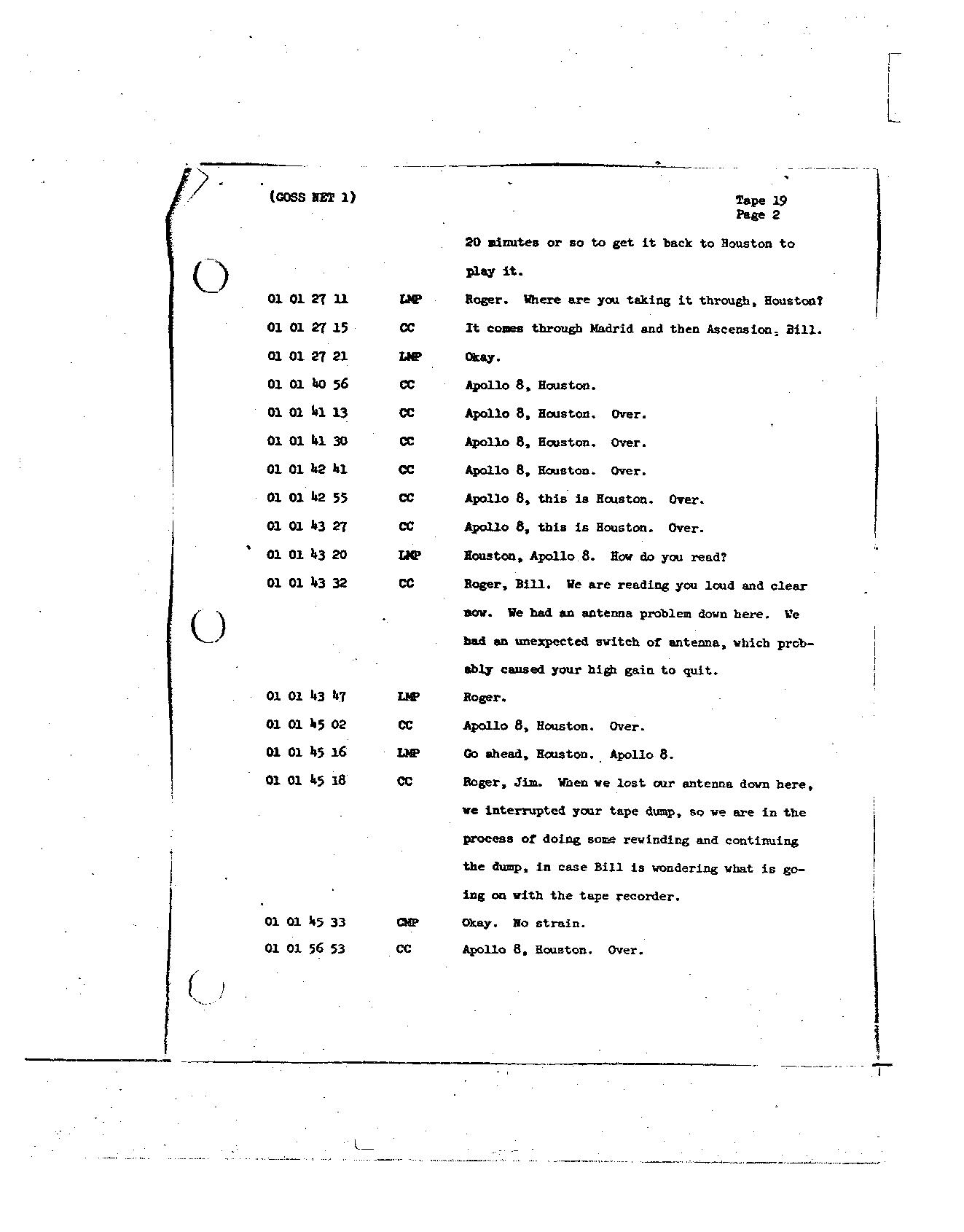 Page 149 of Apollo 8's original transcript