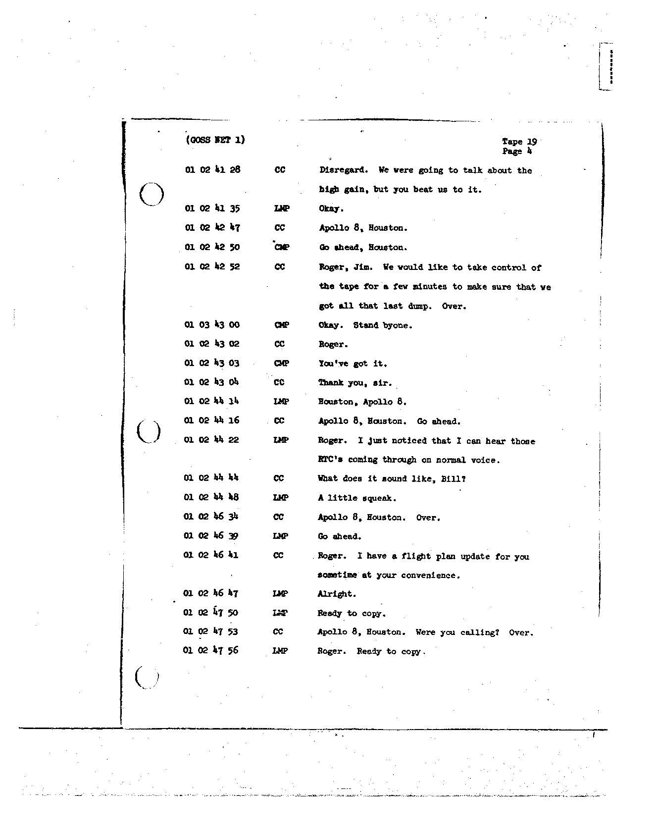 Page 151 of Apollo 8's original transcript