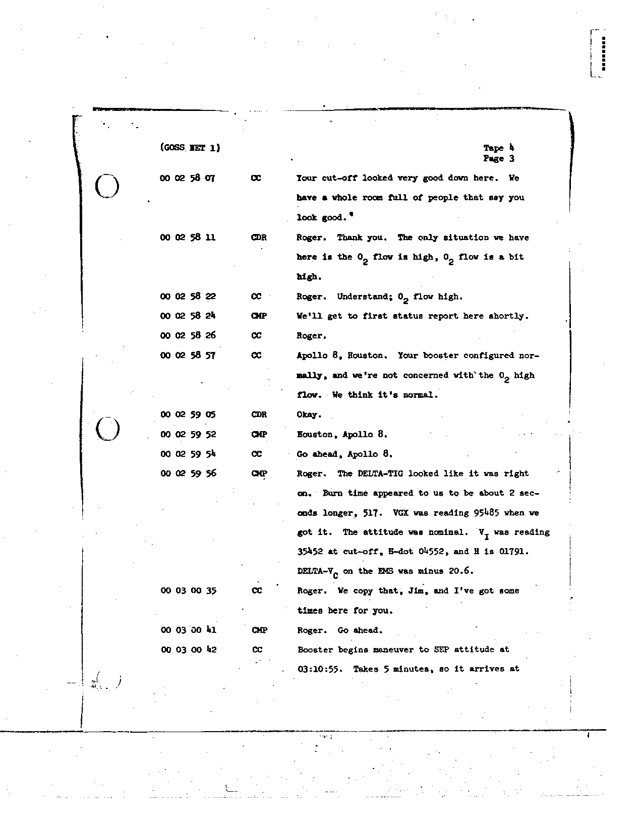 Page 24 of Apollo 8's original transcript