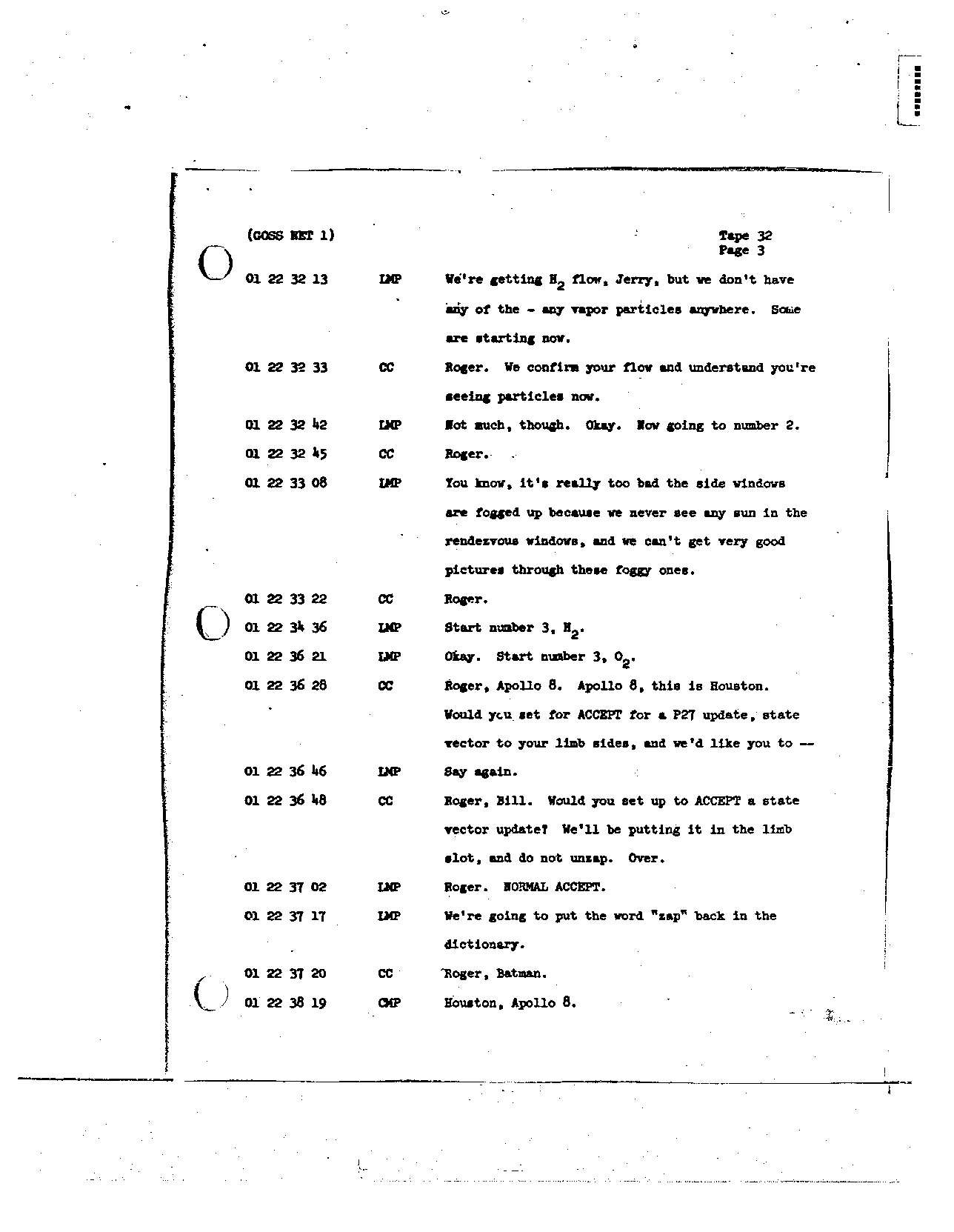 Page 247 of Apollo 8's original transcript