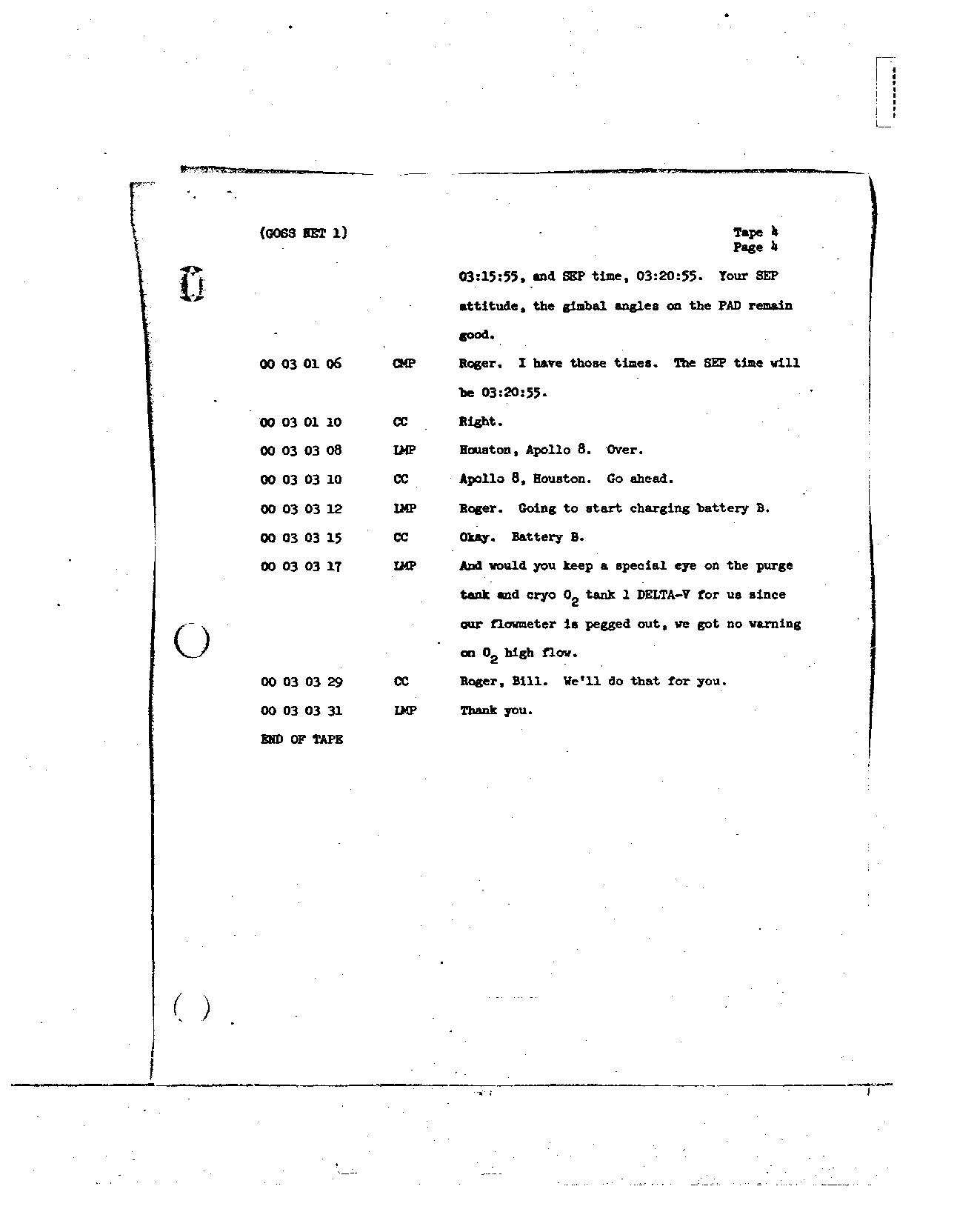 Page 25 of Apollo 8's original transcript