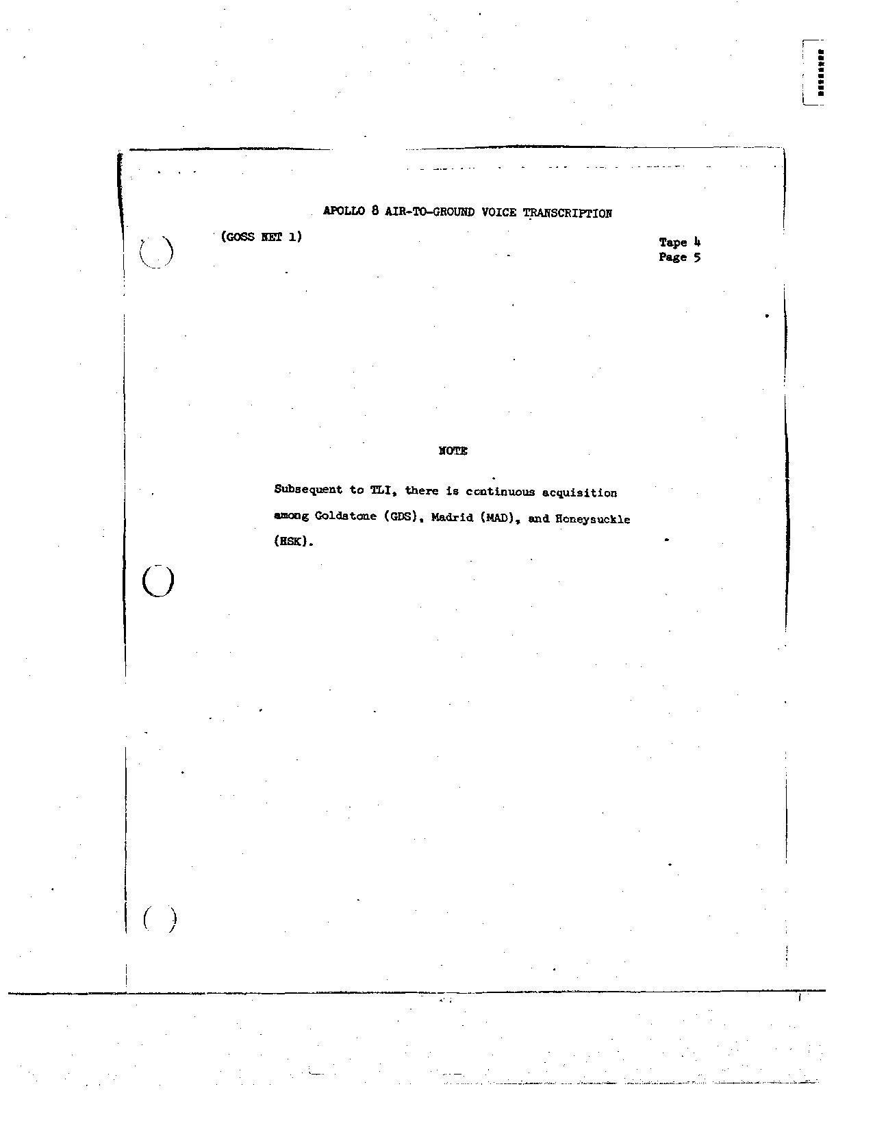 Page 26 of Apollo 8's original transcript