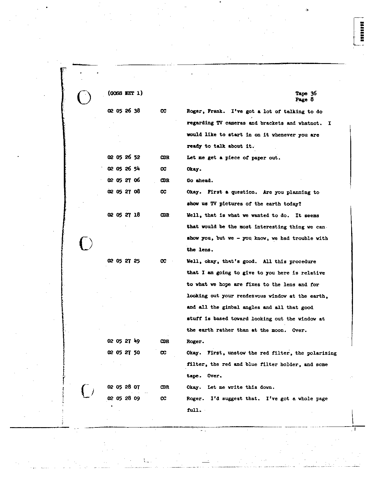Page 278 of Apollo 8's original transcript