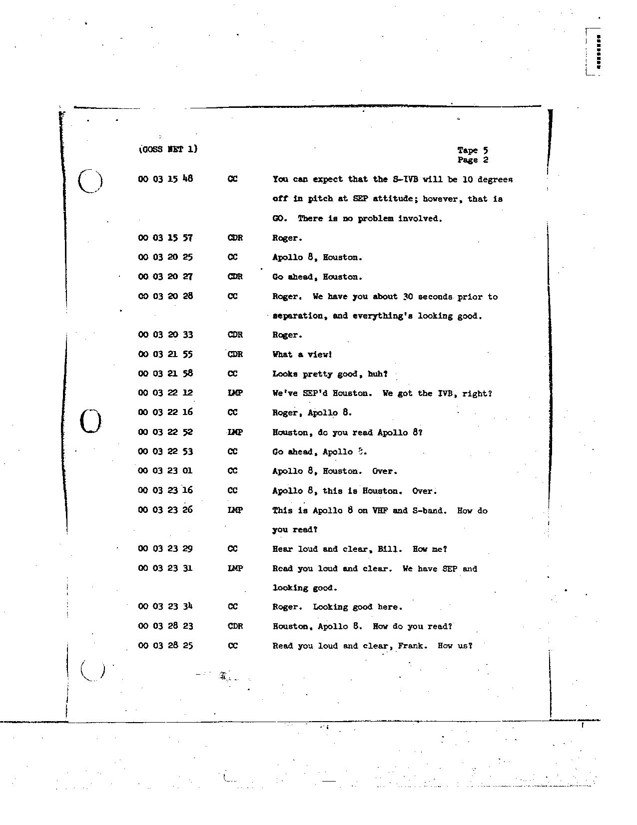 Page 28 of Apollo 8's original transcript