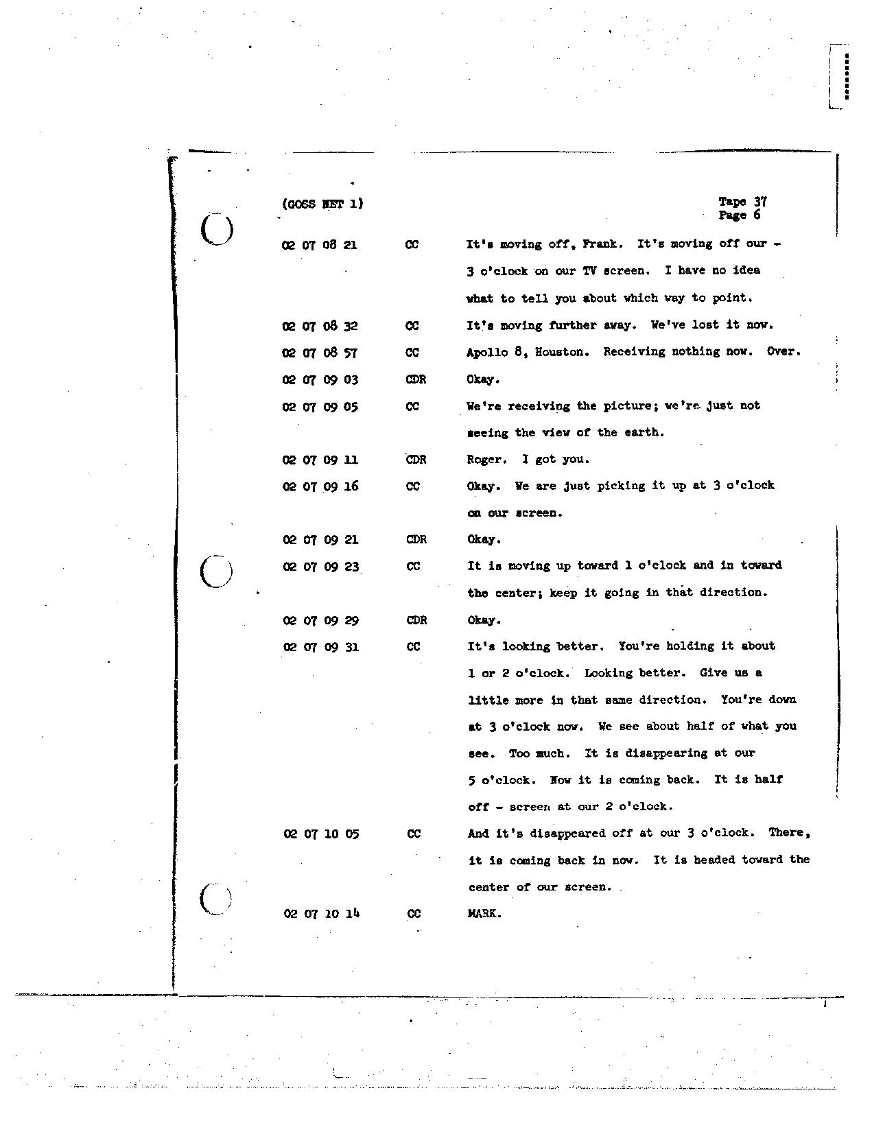 Page 288 of Apollo 8's original transcript