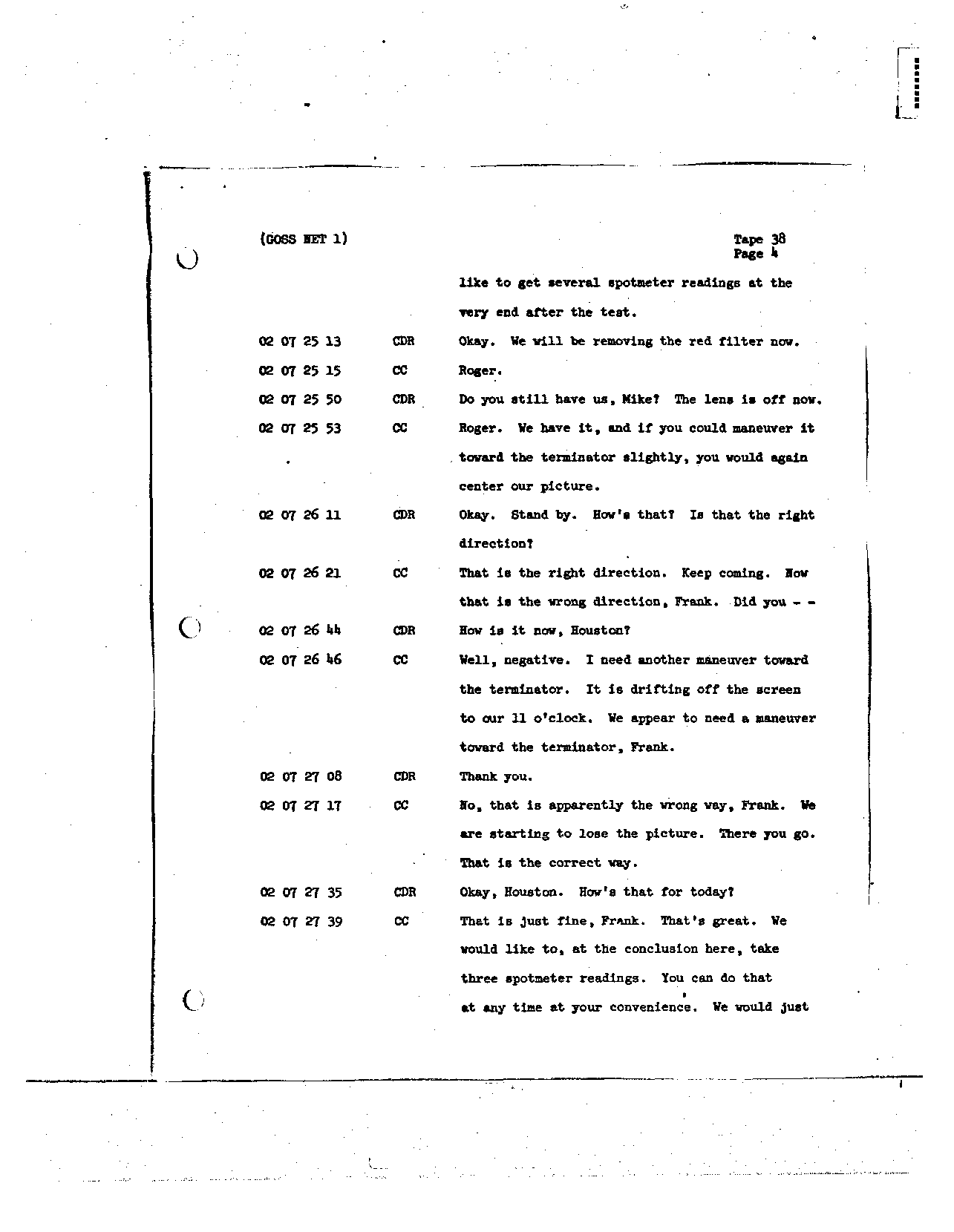 Page 297 of Apollo 8's original transcript