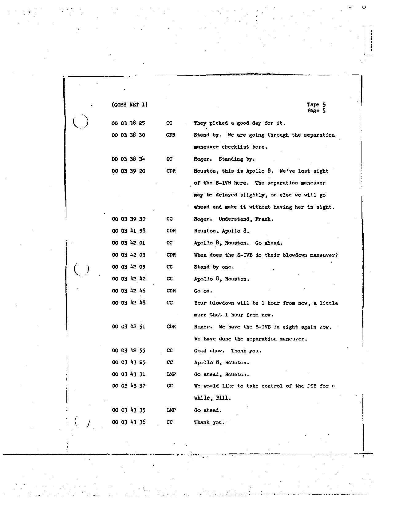 Page 31 of Apollo 8's original transcript