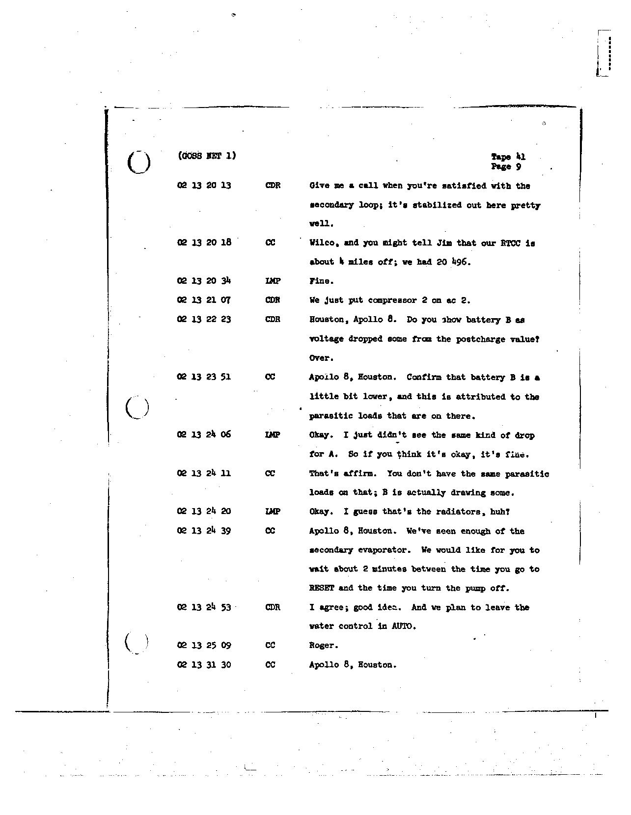 Page 320 of Apollo 8's original transcript