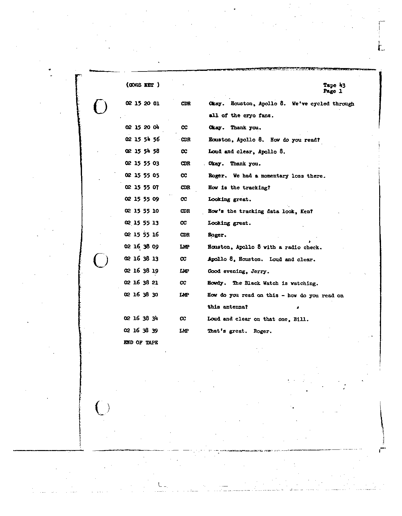Page 336 of Apollo 8's original transcript