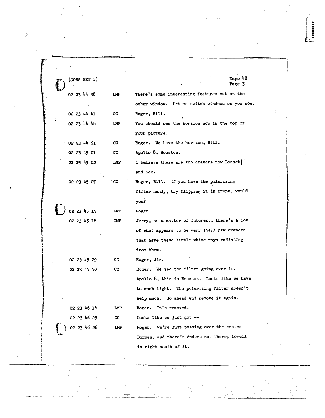 Page 375 of Apollo 8's original transcript