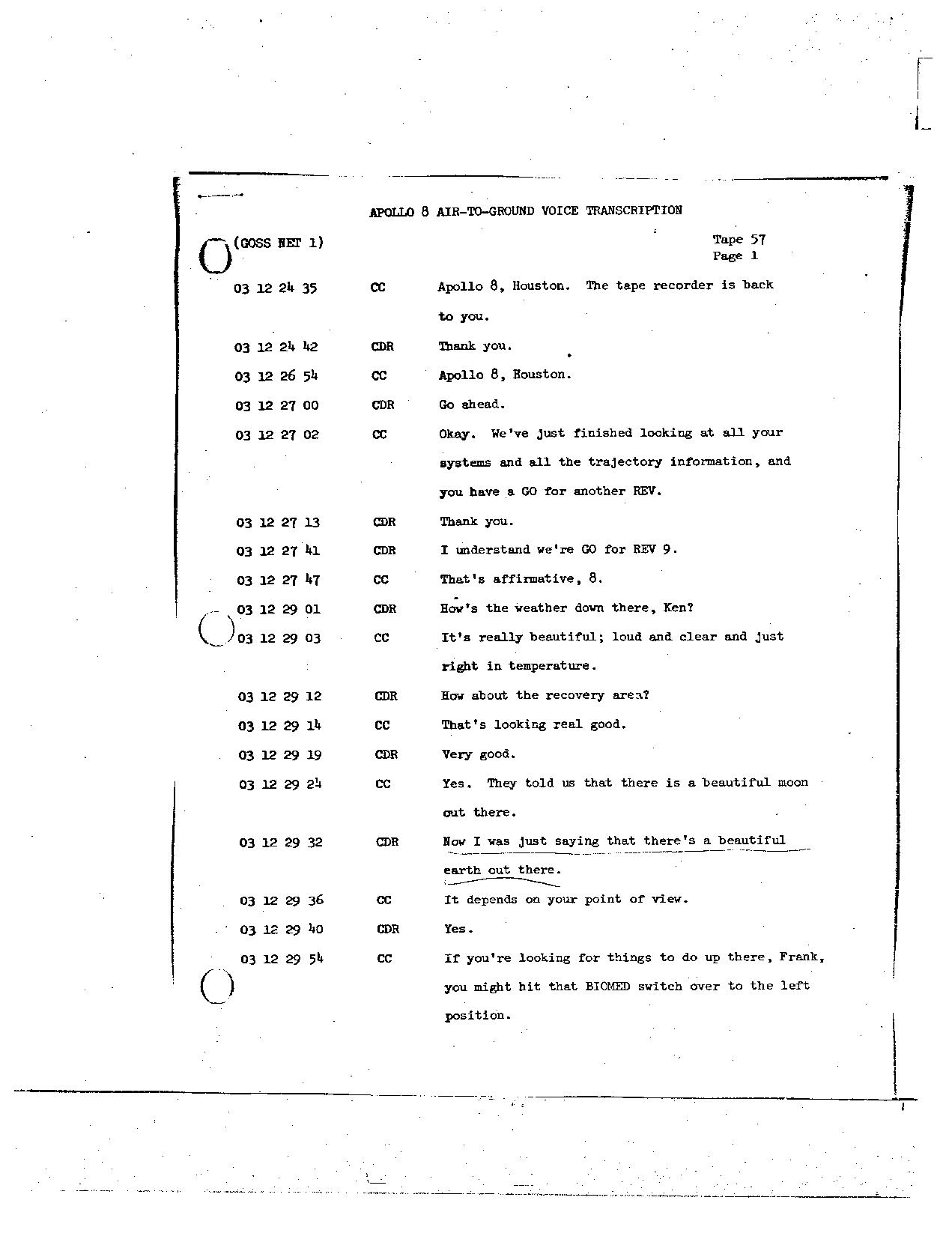 Page 450 of Apollo 8's original transcript
