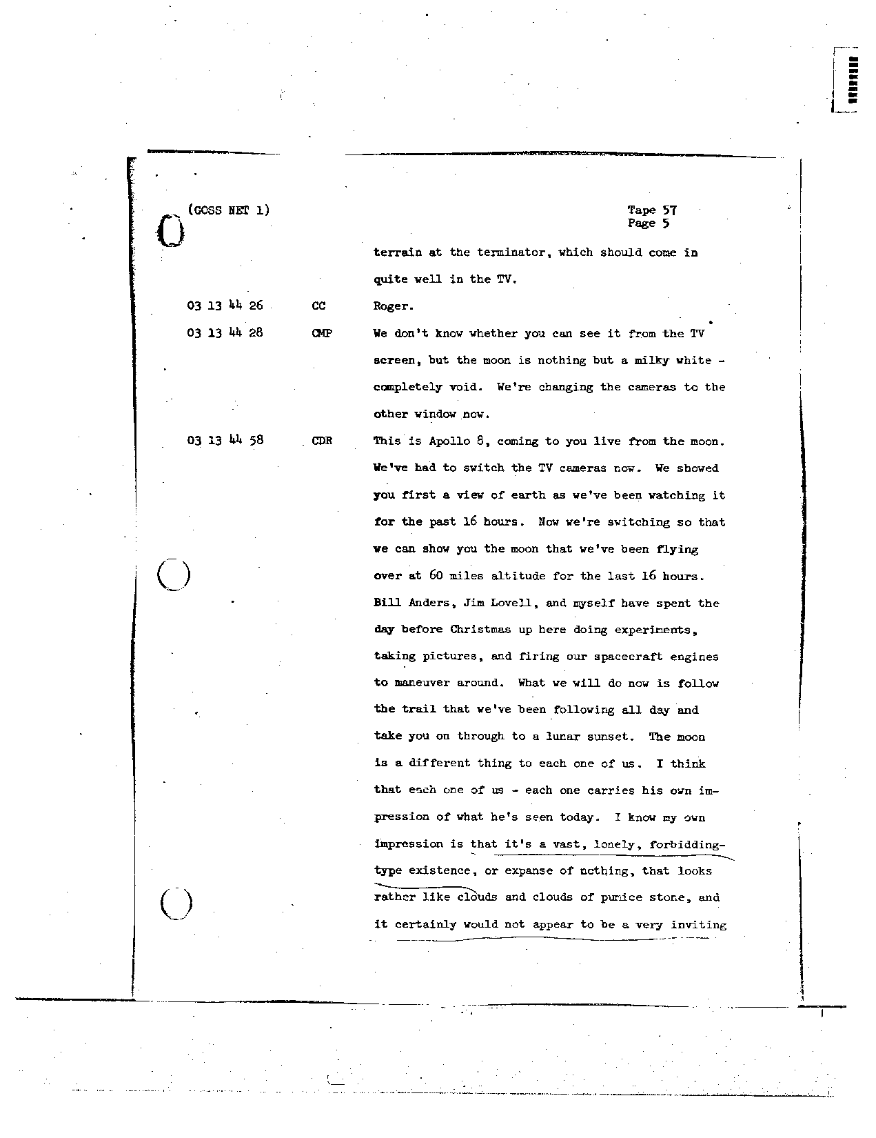 Page 454 of Apollo 8's original transcript