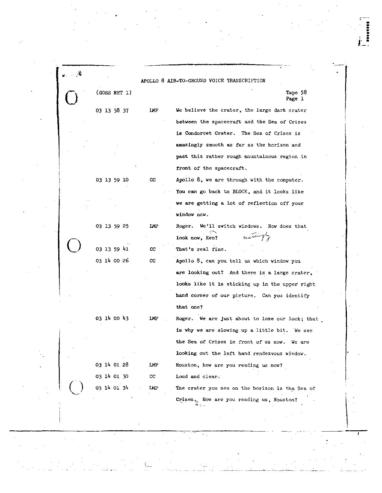 Page 460 of Apollo 8's original transcript
