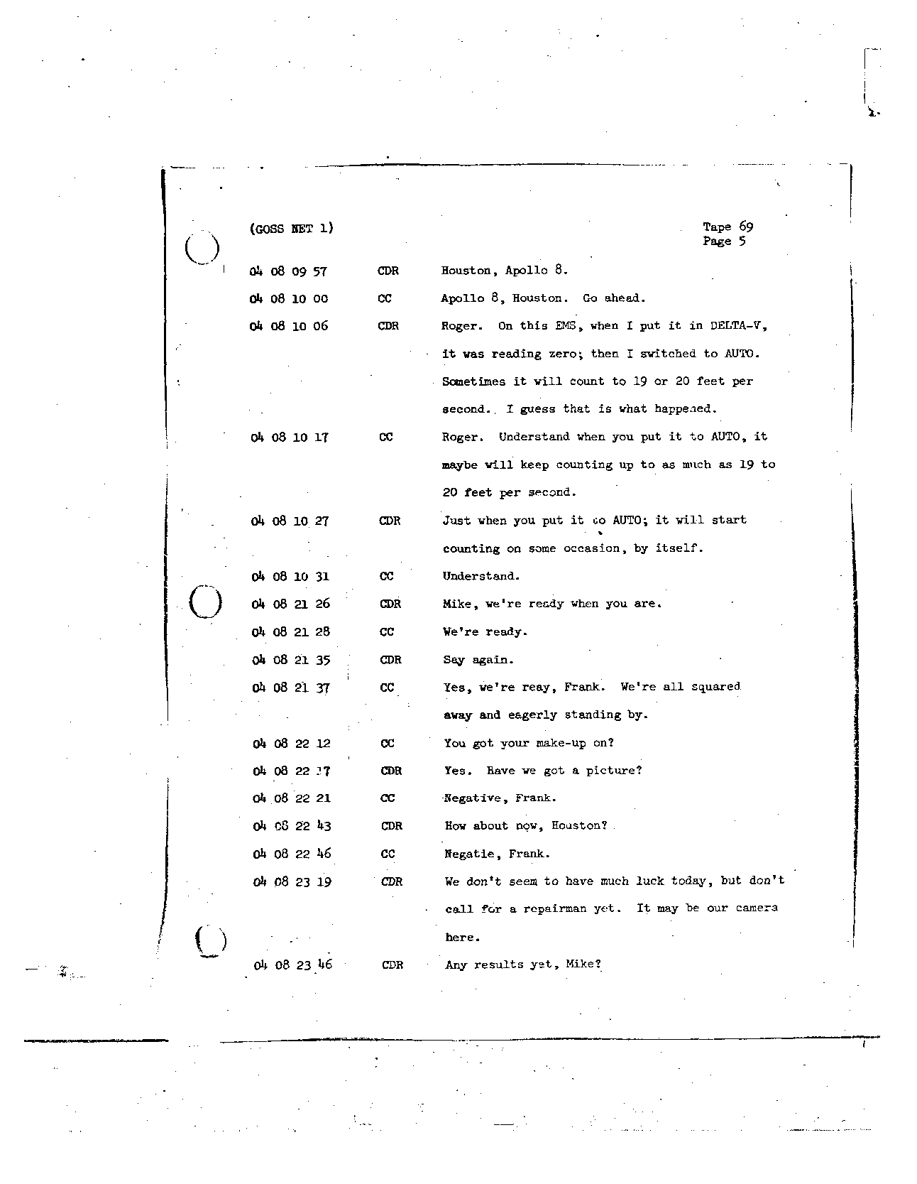 Page 551 of Apollo 8's original transcript