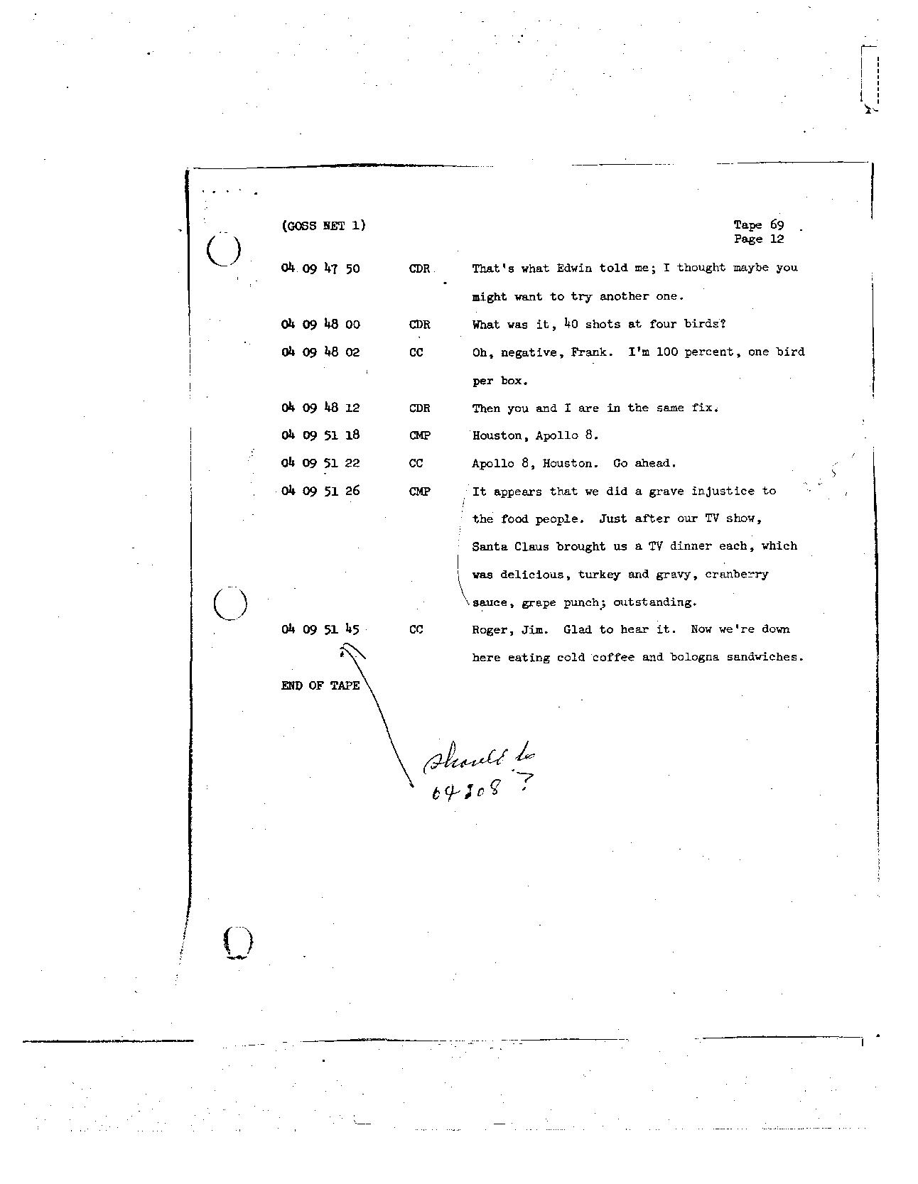 Page 558 of Apollo 8's original transcript