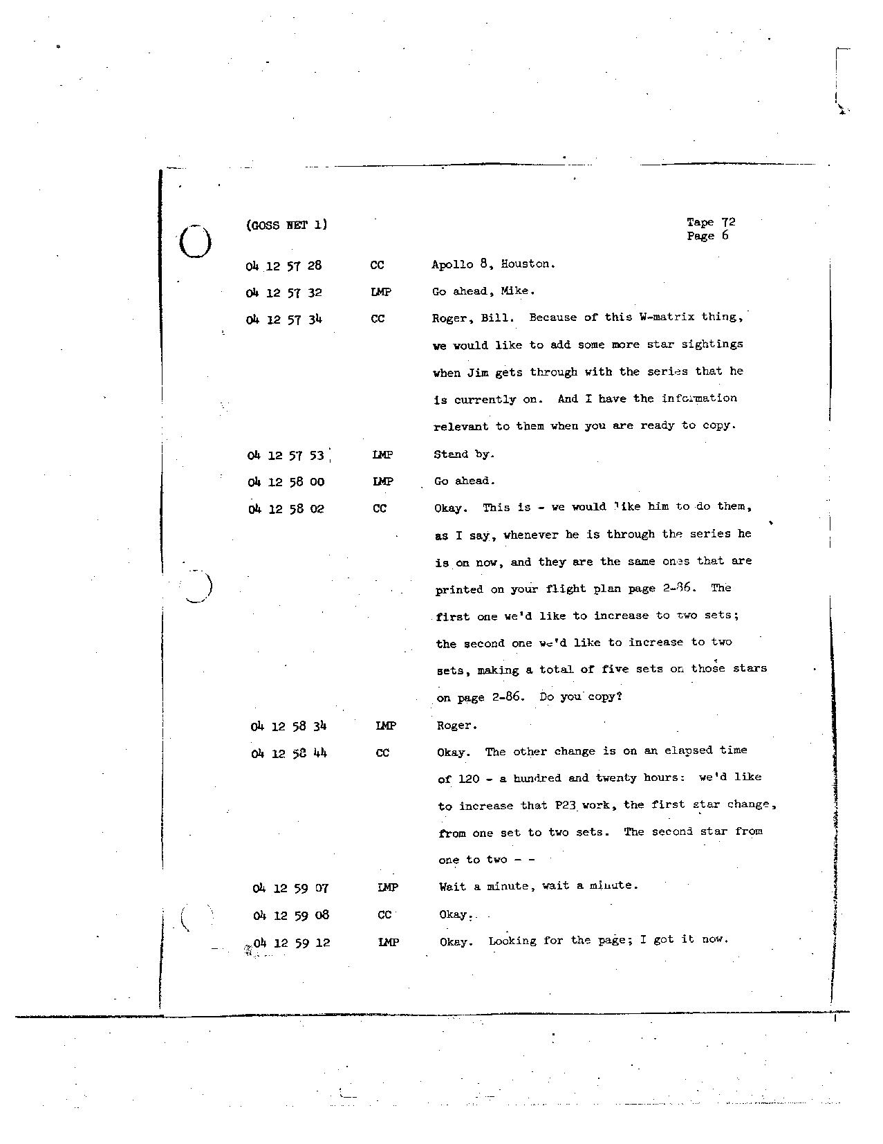 Page 579 of Apollo 8's original transcript