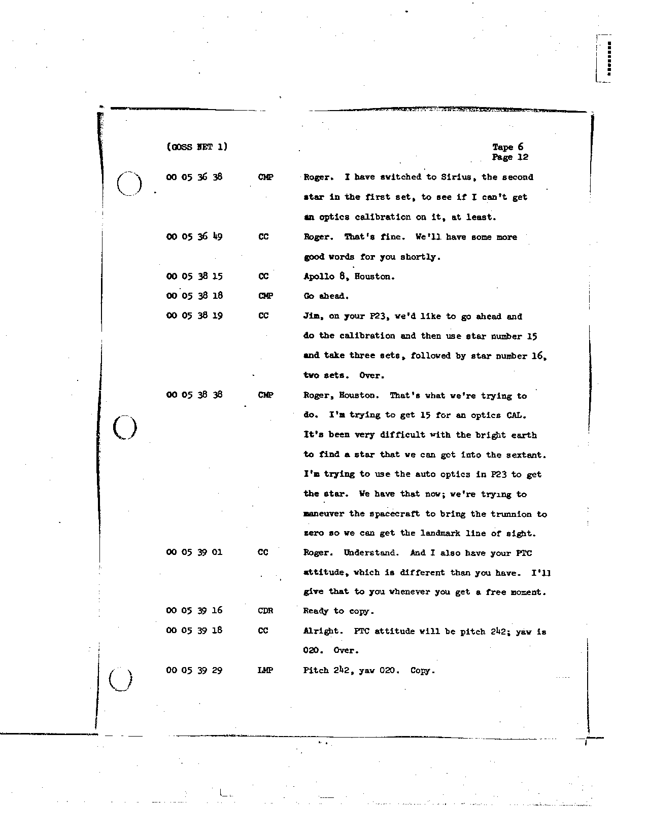 Page 58 of Apollo 8's original transcript