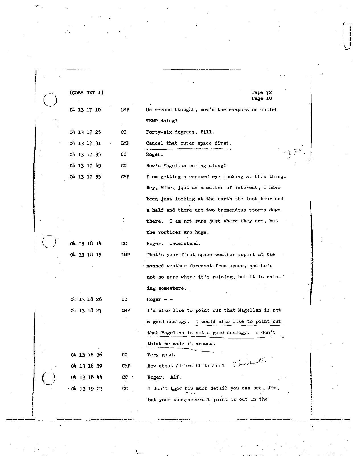 Page 583 of Apollo 8's original transcript