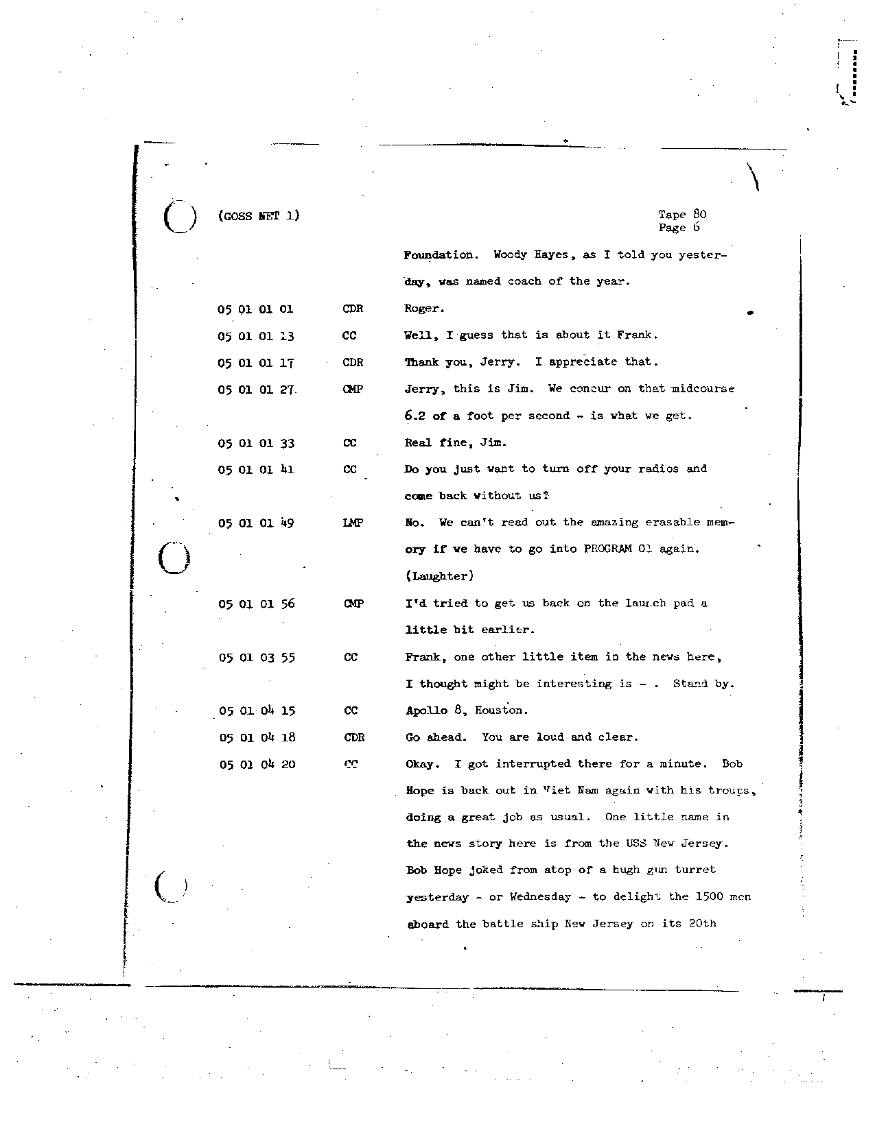 Page 663 of Apollo 8's original transcript